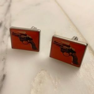 Troika Accessories - Limited edition Andy Warhol silver cufflinks